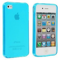 Frost Light Blue TPU Rubber Skin Case Cover for Apple iPhone 4 4G 4S: Cell Phones & Accessories