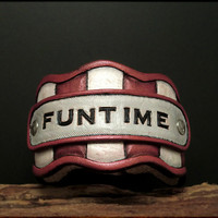 B1186 FUNTIME leather cuff by Experimetal on Etsy