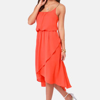 There's a Strap For That Orange High-Low Dress