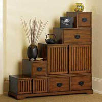 Reversible Tansu Step Chest | Home Living | SkyMall