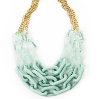 Galveston Island Link Necklace in Mint