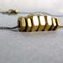 industrial brass hex nut necklace