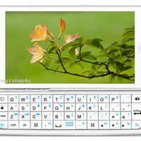 New Ultra-thin Slide-out Backlit Wireless Keyboard White Case Cover for iPhone 5