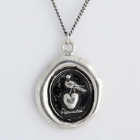 Martlet and Heart Talisman Necklace