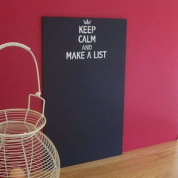 keep calm and make a list chalkboard by the painted broom company | notonthehighstreet.com