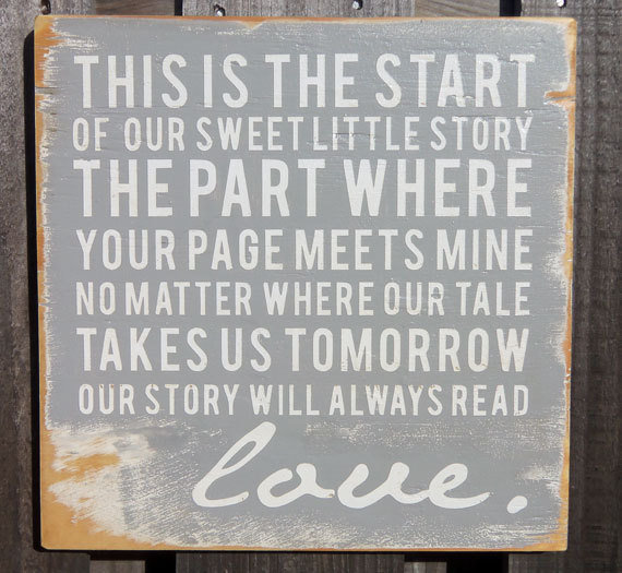 Vintage Inspired Typography Wall Art Our Sweet by 13pumpkins