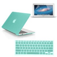 Amazon.com: SmackTom 3 in 1 Rubberized Hard Case Skin for Macbook Air 11 inch with Protective Keyboard Cover With Anti-Glare Screen Protector-Ocean Green: Computers & Accessories