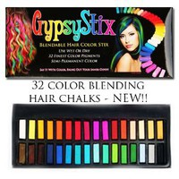 Amazon.com: 32 Color Hair Chalk Set | Lasts up to 3 Days | Blendable Pastel and Primary Colors | for All Hair Types | Sets in 60 Seconds: Beauty