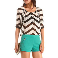 Chevron Stripe Hi-Low Blouse: Charlotte Russe