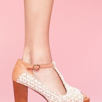Foxy Platform - Ivory Crochet in What's New at Nasty Gal