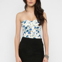 Floretta Bustier in Blue :: tobi
