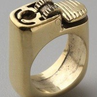 Fashion Golden Punk Lighter Ring