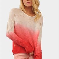Fading Winter Sweater - Coral