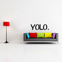 YOLO You only live once wall decal sticker lettering