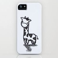 GIRAFFE iPhone Case by Kian Krashesky