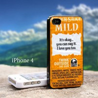 Taco Bell Sauce Packet Sayings - Design For iPhone 4 / 4s Black Case
