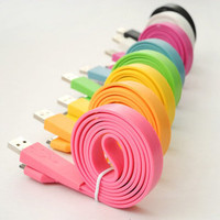 Orange Charge Cable for iPhone 4, iPod, iPad mini