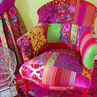 pushkar patchwork chair by couch gb | notonthehighstreet.com