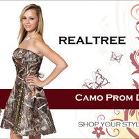 Realtree Camo Prom Dress | store.realtree.com
