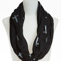 David & Young Cross Print Circle Scarf | Nordstrom