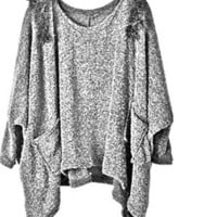Fashion Grey Super Warm Sweater