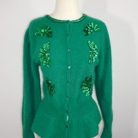 Luck o' the Irish Kelly Green Angora Sweater