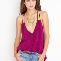 Button Up Tank - Plum