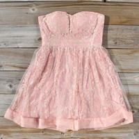Peaches & Lace Party Dress, Sweet Women's Bohemian Clothing