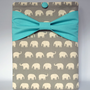 "Macbook Pro 13 Sleeve MAC Macbook 13"" inch Laptop Computer Case Cover Grey Elephant  with Aqua Bow"