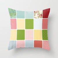Spring Picnik Throw Pillow by RDelean