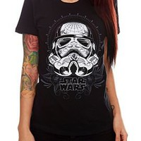 Star Wars Stormtrooper Sugar Skull Girls T-Shirt - 301022