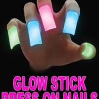 Amazon.com: Glow Stick Press On Nails (Set Of 5) AL#GG11006 (Blue): Clothing