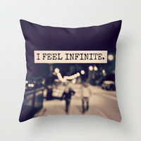 I Feel Infinite Throw Pillow by Caleb Troy