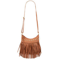 Fringe Pyramid Stud Handbag