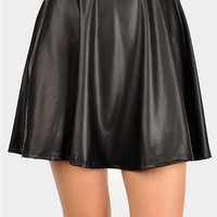 Hi Hater Leather Mini Skirt - Black