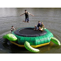 Island Hopper Turtle Jump 15 Foot Water Trampoline 2012: Toys & Games from BNM CORP