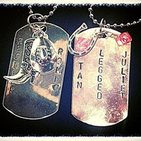 Redneck Romeo tan legged Juliet his and her Dogtags
