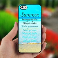 Summer Quotes Print Custom - Photo on Hard Cover For iPhone 4,4S
