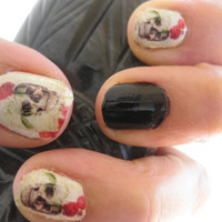SKULLS and ROSES Day of the Dead Calavera Nail by chachacovers