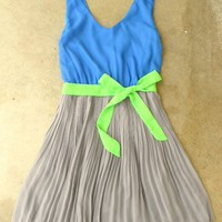 Clearwater Colorblock Dress in Royal [2604] - $23.10 : Vintage Inspired Clothing & Affordable Fall Frocks, deloom | Modern. Vintage. Crafted.