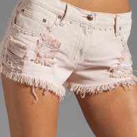 Somedays Lovin Push It Classic Denim Shorts in Pink from REVOLVEclothing.com