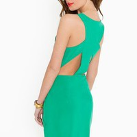 Emmy Cutout Dress - Green in  Clothes at Nasty Gal