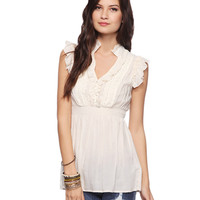 Ruffled Cap Sleeve Top | FOREVER21 - 2058635876