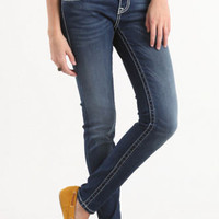 Vigoss Skinny White Stitch Jeans at PacSun.com
