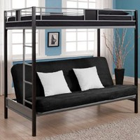 Amazon.com: Dorel Home Products Silver Screen Twin/Futon Bunk Bed: Home & Kitchen
