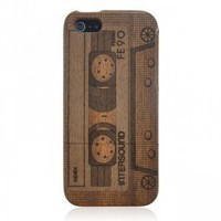 Wood iPhone 5 Case - Hand Carved Vintage Tape