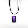 Purple Dichoric Fused Glass Pendant