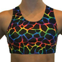 Amazon.com: Neon Tie Dye Giraffe Sports Bra (available in 8 sizes): Sports &amp; Outdoors