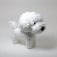 Bichon Frise Amigurumi Dog Stuffed Animal Crochet Dog Dog Doll / Made to Order