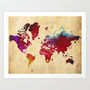 World Map Art Print by Danielle Rose Fisher